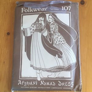 Vintage Folkwear Pattern Afghani Nomad Dress